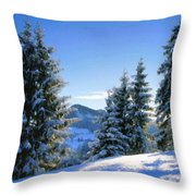 A Landscape Drawing Throw Pillow