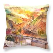 A Trip To Lewiston  In Autumn Album Throw Pillow