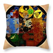 Abstract Painting - Caterpillars Brown Throw Pillow