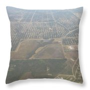 An Aerial View Of Fort Myers Throw Pillow