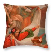 Angels Descending Throw Pillow