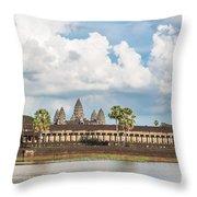 Angkor Wat In Cambodia Throw Pillow