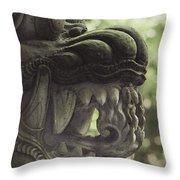 Bali Sculpture Throw Pillow