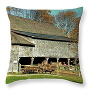Hallockville Farm Barn Li.ny Throw Pillow
