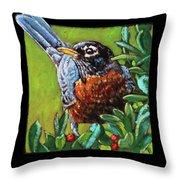 Birdman Of Alcatraz Detail Throw Pillow