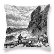 California Gold Rush Throw Pillow