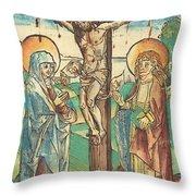 Christ On The Cross Throw Pillow