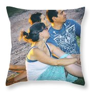 Concert Audience Throw Pillow