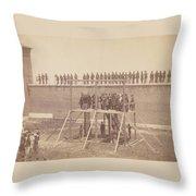Execution Of The Conspirators Throw Pillow