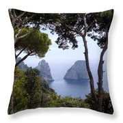 Faraglioni - Capri Throw Pillow
