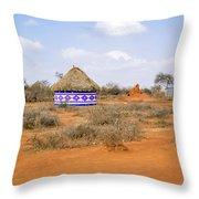 Farmland Landscape In Ethiopia Throw Pillow