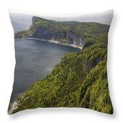 Forillon National Park Throw Pillow