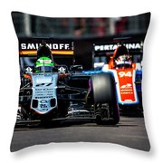 Formula 1 Monaco Grand Prix 2016 Throw Pillow