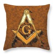 Freemason, Mason, Masonic Symbolism Throw Pillow