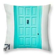 Front Door Throw Pillow by Tom Gowanlock