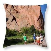 Garden Of The Gods Ten Mile Run In Colorado Springs Throw Pillow