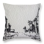 Ghost Town Throw Pillow