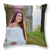Golden Hour Senior  Throw Pillow