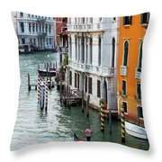 Gondola, Canals Of Venice, Italy Throw Pillow
