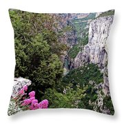 Grand Canyon Du Verdon Throw Pillow