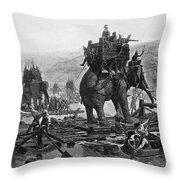 Hannibal (247-183 B.c.) Throw Pillow