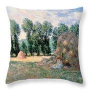 Haystacks Throw Pillow