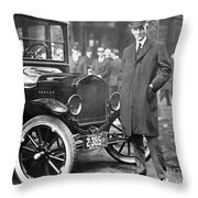 Henry Ford, 1863-1947 Throw Pillow