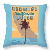 Hermosa Beach. Throw Pillow