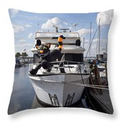 Lake Monroe At The Port Of Sanford Florida Throw Pillow