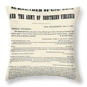 Lees Surrender, 1865 Throw Pillow