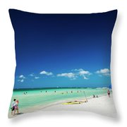 Main Beach Of Tropical Paradise Boracay Island Philippines Throw Pillow