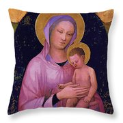 Mary And Child Art Throw Pillow
