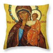 Mary Saint Christian Art Throw Pillow