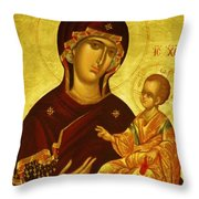 Mary Saint Religious Art Throw Pillow