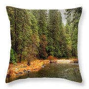 Merced River Yosemite Valley Throw Pillow