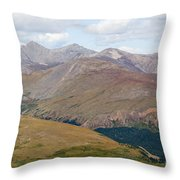 Mount Bierstadt In The Arapahoe National Forest Throw Pillow