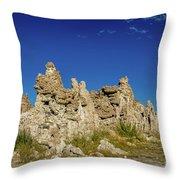 Natural Rock Formation At Mono Lake, Eastern Sierra, California, Throw Pillow