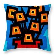 9 Orange Poppies Throw Pillow
