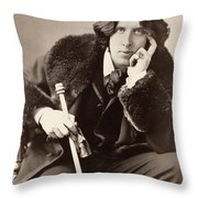 Oscar Wilde (1854-1900) Throw Pillow by Granger