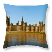 Palace Of Westminster, Houses Of Parliament, And Big Ben Throw Pillow