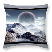 Planet Rise Throw Pillow