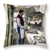 Pullman Car, 1877 Throw Pillow