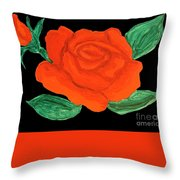 Red Rose, Painting Throw Pillow