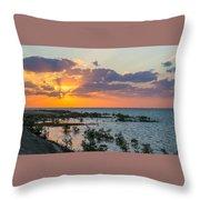 Red Sea Sunset Throw Pillow