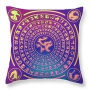 Runes Throw Pillow
