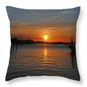 9- Sailfish Marina Throw Pillow