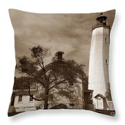 Sandy Hook Lighthouse Nj  Throw Pillow