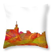 Santa Fe New Mexico Skyline Throw Pillow