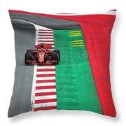Sebastian Vettel Ferrari  Throw Pillow