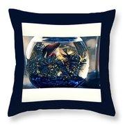Siamese Fighting Fish Throw Pillow